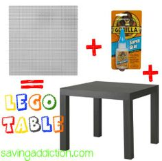 DIY LEGO Table.. Im going to do this with the ikea coffee table instead. http://@Niki Kinney Jones what about this in coops room? 1 or 2 of those end tables from IKEA