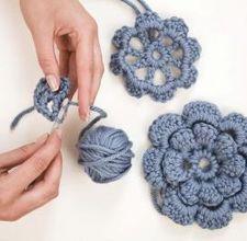 Crochet flowers, free pattern, thanks so xox