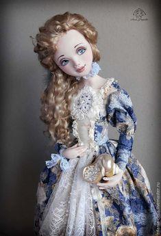 Купить Жемчужинка Перл - голубой, море, бегущая по волнам, жемчужина, коллекционная кукла, ручная работа
