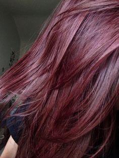 Fuchsia // cherry coke hair