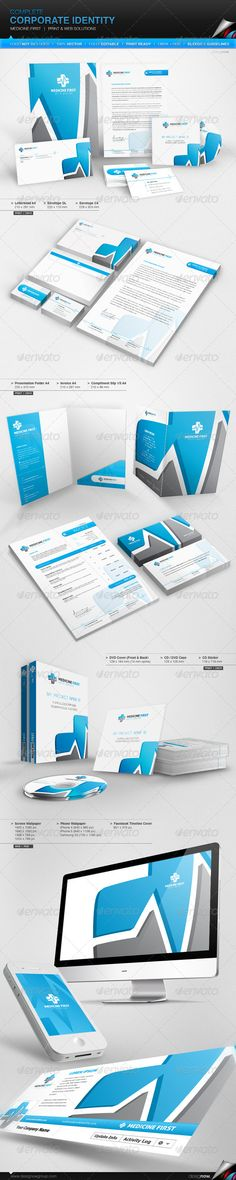 Corporate Identity - Medicine First  en #stationary #stationery #wallpaper