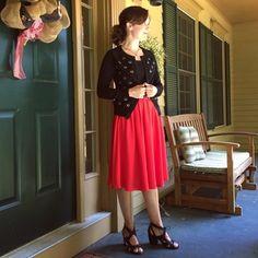 De tirar o fôlego Tiger Lilies Skirt in Scarlet | Mod Retro Vintage Saias | ModCloth.com