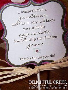 Teacher gift More