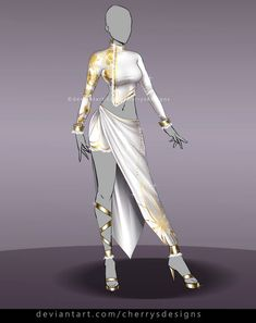 Find my designs in video-games like Dead or Alive 5 and Nebula Realms on Gallery Join my Outfit Adopt group and. Clothing Sketches, Dress Sketches, Dress Drawing, Drawing Clothes, Fashion Design Drawings, Fashion Sketches, Anime Outfits, Cool Outfits, Anime Dress