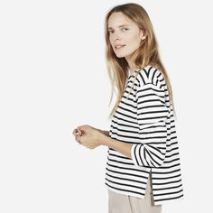 The Boxy Striped Tee - Everlane