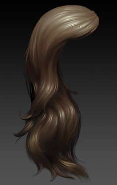 3d hand painted character hair - Google Search