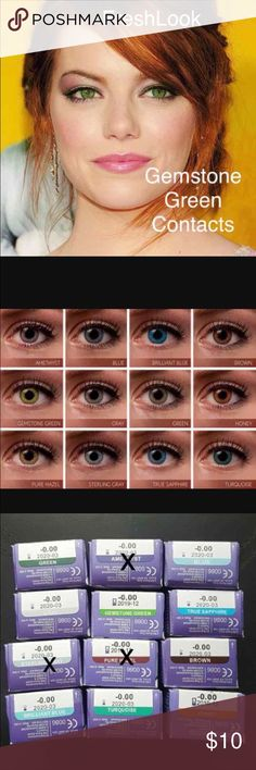 1 Pair Gemstone Green Colored Contacts 1 Pair Gemstone Green Colored Contacts Makeup  sc 1 st  Pinterest & LIZ Eye Color Contact Lenses - 20 Colors | Pinterest | Colored ...