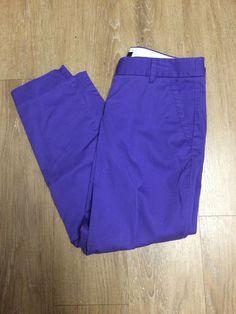 Purple J.Crew Capri Cropped Pants City Fit 0 #JCrew #CaprisCropped