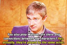 When asked about Bilbo -- Martin, you have a fantastic sense of humor.
