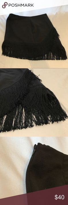 TOPSHOP Black Fringe Party Skirt Sexy TOPSHOP Black Fringe Party Skirt Size: 8 US Great going out Skirt to make you feel like the belle of the ball Topshop Skirts Mini
