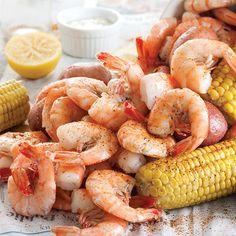 Shrimp Boil with White Remoulade Sauce