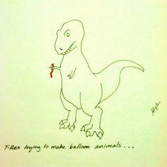 T rex balloon animals T Rex Arms, T Rex Humor, Dinosaur Funny, Creative Writing, Writing Art, Balloon Animals, Funny Faces, Getting Old, Balloons