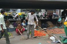 Street cleaning, both by the vendor and the AMC Kaamdar.