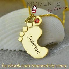 Capture those precious #moments with a #personalized #baby #momento with your #childs #name #engraved on a #necklace #personalisedgifts #personalisedjewellery