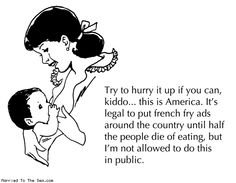Comic by Married To The Sea: hurry up and breastfeed    Fact: Seattle is trying to make it a law that it is ok for women to breastfeed in public, meaning they can't be asked to go somewhere else, etc. This is awesome news!