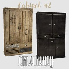 Sims 4 Luxury - Cabinet 2 for The Sims 4 Home Bar Cabinet, Sims 4 Bedroom, Sims 4 Clutter, Casas The Sims 4, Best Sims, Sims 4 Cc Packs, Rustic Wallpaper, Sims Four, David Sims