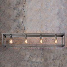 Lucide Oris 4 Light Bar Ceiling Pendant - Satin Nickel