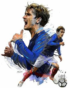'griezmann france' Poster by bassdesign - Football wallpaper - Football 2018, Football Art, Sport Football, Fantasy Football, Antoine Griezmann, France World Cup 2018, France Team, France Fifa, Soccer Drawing
