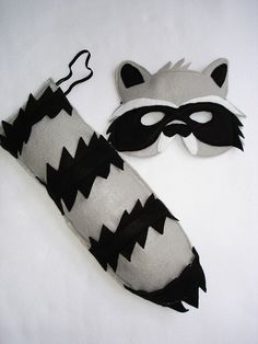 Children's Woodland Animal RACCOON Felt Mask and by magicalattic, $28.00