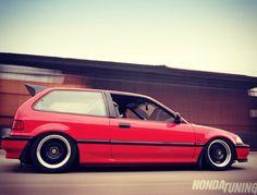1991 Honda Civic Hatchback. Rio Red. #slammed #stancewillmakeherdance