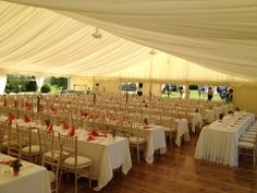 Limewashed chiavari chairs at Ballyscullion Park Bellaghy - marquee by butlers in randalstown #weddingsbyswift www.swiftservices.biz