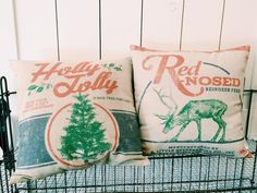 Holiday Pillow   The Magnolia Market. I want these!!! :-)