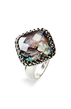mother of pearl and facets!