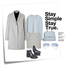 """""""Stay Simple Stay True"""" by andthisisthereasonwhy on Polyvore featuring Post-It, Proenza Schouler, MANGO, Jil Sander, Ray-Ban, Givenchy and Isaac Mizrahi"""