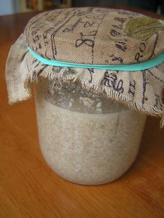 How to create and keep a sourdough starter.
