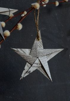 18 simple DIY ideas for your Christmas decorations SoLebIch.de 18 simple DIY ideas for your Christmas decorations SoLebIch. Winter Christmas, All Things Christmas, Christmas Holidays, Christmas Ornaments, Decoration Christmas, Diy Decoration, Christmas Stars, Christmas Ideas, Origami Xmas Ornaments