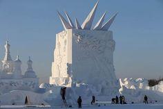 #Esculturas gigantes del festival Harbin Ice and Snow 2015