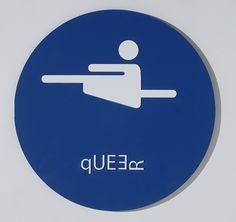 Lauren Quock Modified Bathroom Signs series Queer