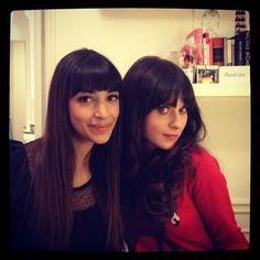 Zooey and Hannah Simone