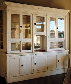 LaurieAnna's Vintage Home: Farmhouse Friday - Maiden Post and Part 3 of the Tour Farmhouse Pantry Cabinets, Kitchen Cabinets Decor, Farmhouse Style Kitchen, Kitchen Cabinet Design, Rustic Farmhouse, Kitchen Sideboard, Farmhouse Kitchens, Country Kitchen, Armoire