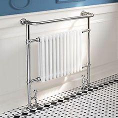 Traditional-Radiator-Column-Chrome-Heated-Towel-Rail-FREE-Angled-Rad-Valves