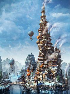 Artwork by Andrey Serebryakov #Concept #Fantasy #Steampunk