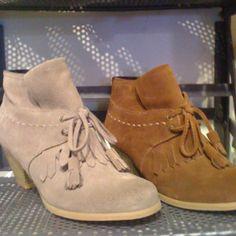 Desert boot with an iccle heel seen in East Van, BC
