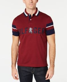 4212c6cbe Tommy Hilfiger Men s Anderson Logo Custom Fit Polo   Reviews - Polos - Men  - Macy s