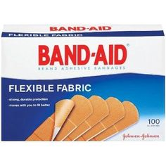 Flexible fabric bandages will stick better and longer than most bandages and come off without ripping apart.