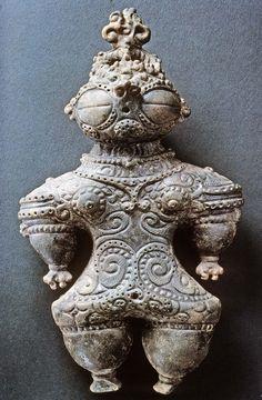 Clay Dogu Figure Final Jomon Period ca. 1000-300BCE
