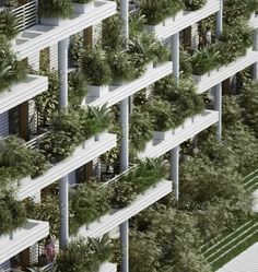 Green & Vegetal Sky Villa Residences in India Architecture studio Penda recently proposed an ecological project for India with its sky villas residences for their project Magic Breeze for Hyderabad city. This 450 000 square feet residence is composed of 1 Architecture Design, India Architecture, Hyderabad, Villas, Green Facade, Tiered Garden, Floating Flowers, Residential Complex, Private Garden