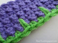 How to Crochet Blanket Stitch Edging - photo tutorial