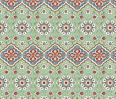 Persian wall decor fabric by unseen_gallery_fabrics on Spoonflower - custom fabric