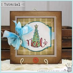 Homespun Noel Card featuring So Very Merry Stamps | www.tammytutterow.com