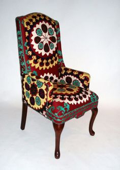 bold upholstery is my favorite thing [Suzani upholstery]