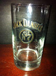 $49.97 Vintage Jack Daniels Raised Gold Lettered Old No 7 Glass RARE and Old   eBay