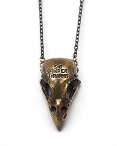 Brass Cardinal Skull