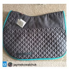 Ogilvy Equestrian Friction Free Fun Fact! The combination of materials that we use in our Friction Free Saddle Pads stabilizes the saddle pad, transfers movement and resulting friction to the interior of the saddle pad, away from the horse - for a smooooooth ride. It's the Bentley of Saddle Pads Half pad, horse, horse show, Www.ogilvyequestrian.com