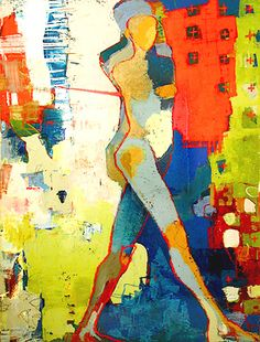Terrigenus 37 - Jylian Gustlin Contemporary Artist - Figurative Painting
