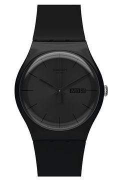 Swatch® 'Rebel' Rubber Strap Watch//Wäre das  nicht was für dich?!